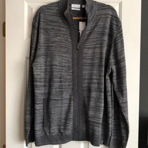 NEW! Calvin Klein Men's Sweater Zipper Jacket XXL
